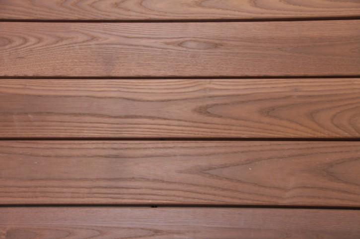 Terrassendielen Thermo Esche 25 x 137mm glatt gehobelt