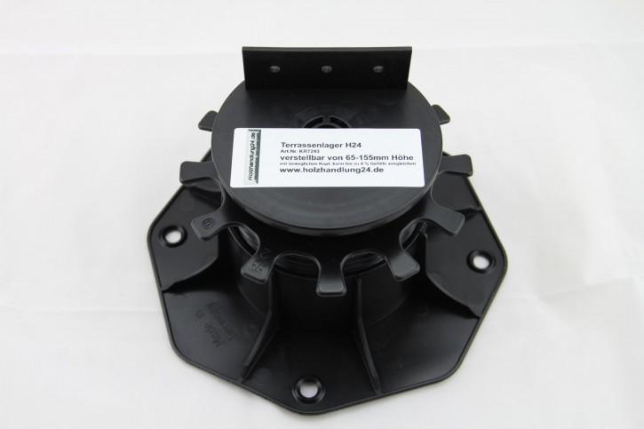 K & R Terracon Terrassenlager - Stellfuss verstellbar 65 - 155 mm Höhe , selbstnivellierend