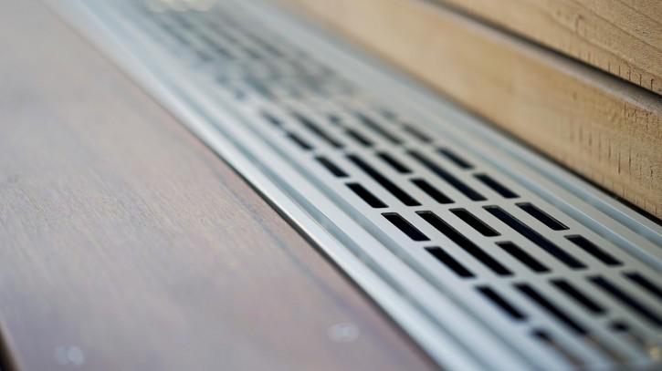Drainage - und Belüftungsprofill für Terrassen 1200x151x20 mm