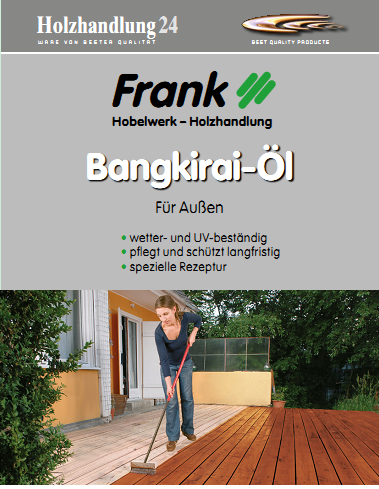 Bangkirai-Öl 2.5 Liter von Holz-Frank