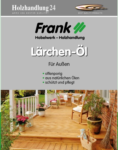 Holz - Frank Lärchenholzöl 2.5 Liter