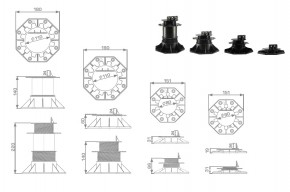 Beko Terrassenlager Verstellbereich von 18 bis 31 mm